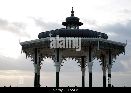 Brighton Bandstand known as 'The Birdcage' - Stock Photo