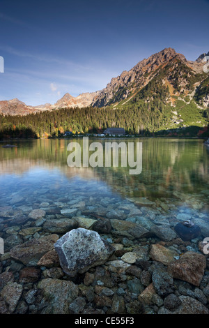 Popradske Pleso Lake in the High Tatras mountains of Slovakia, Europe. Autumn (October) 2011. - Stock Photo