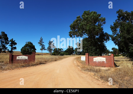 Entrance to the Principality of Hutt River, within Western Australia. - Stock Photo