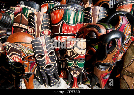 traditional african masks stock photo