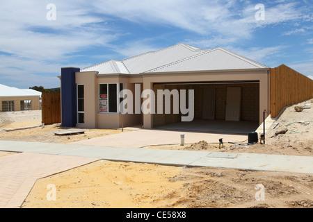 A house under construction in Yanchep, Western Australia, Australia. - Stock Photo