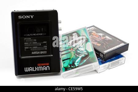 A 1980s Sony Walkman cassette player - Stock Photo