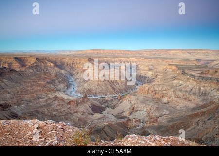 Fish River Canyon in southern Namibia at dawn. - Stock Photo