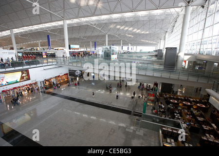 hong kong international airport chek lap kok hksar china asia - Stock Photo