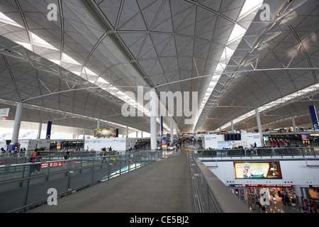 roof of hong kong international airport chek lap kok hksar china asia - Stock Photo