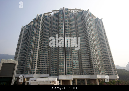 tung chung crescent apartment blocks lantau island hong kong hksar china asia - Stock Photo