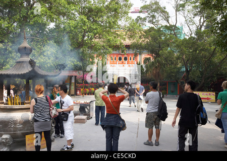 po lin monastery ngong ping lantau island hong kong hksar china asia - Stock Photo