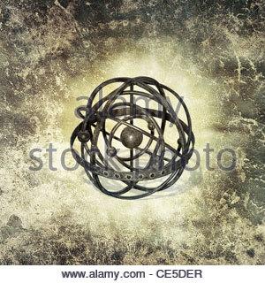 vintage globe - Stock Photo