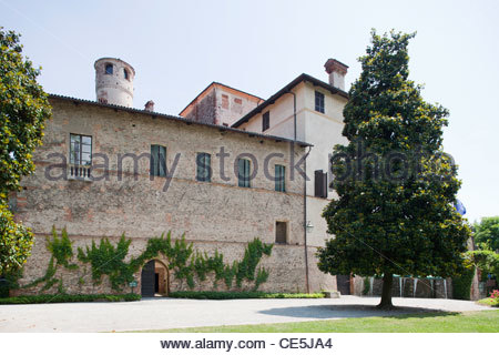 castle of the manta,langhe,piemonte,italy,europe - Stock Photo