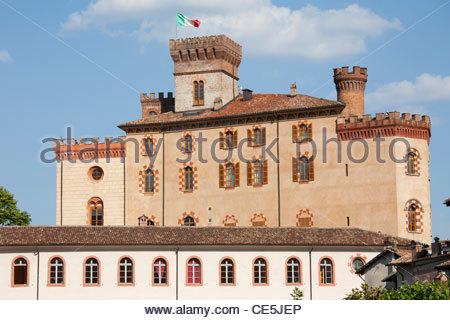 castle,barolo village,langhe,piemonte,italy,europe - Stock Photo