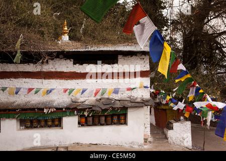 India, Arunachal Pradesh, Tawang, Thongmen Gompa, remote, little-visited Buddhist monastery - Stock Photo