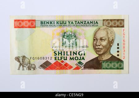 1000 Tanzanian Shilling Banknote - Stock Photo