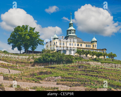 Spitz House Radebeul near Dresden, administrative district Meissen, Saxony, Germany, Europe - Stock Photo