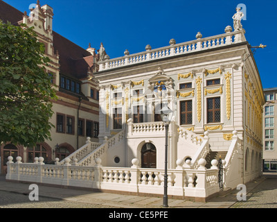 Old Stock Exchange at the Naschmarkt Square, Leipzig, Saxony, Germany, Europe - Stock Photo