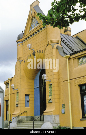 1902 Kauppahalli (market hall) in Kuopio, Finland - The building was designed by architect Johan Victor Strömberg - Stock Photo