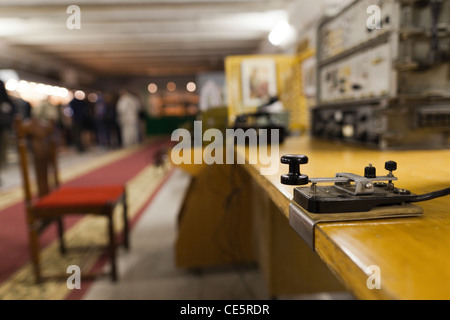Russia, Moscow, Taganka-area, ZKP Tagansky Cold War Museum, underground communication bunker, Soviet-era military - Stock Photo