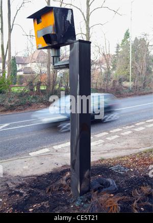 Gatso speed camera arson - Stock Photo