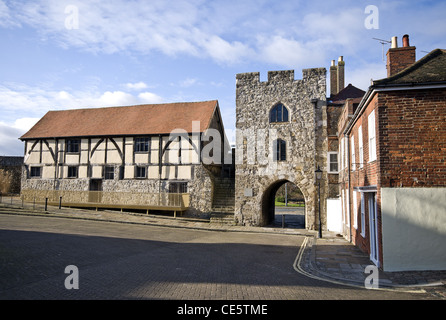 The Tudor Merchants Hall on the Westgate, Old Town, Southampton, Hampshire, England, UK - Stock Photo