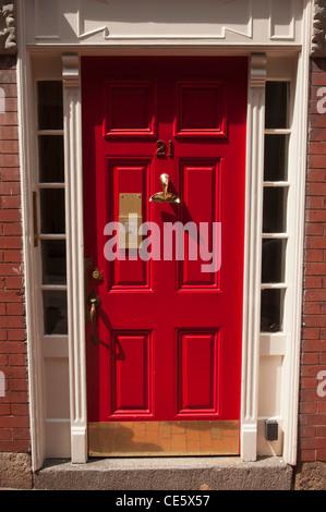 Red doors with fishtail shape door handle 21 Beacon Hill BostonMA & Red doors with fishtail shape door handle 21 Beacon Hill Stock ... pezcame.com