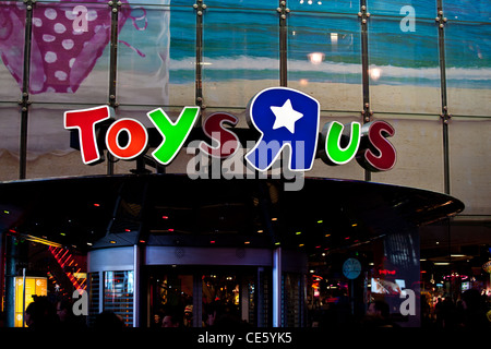 Toys R Us flagship toy store in Times Square in New York City, USA - Stock Photo