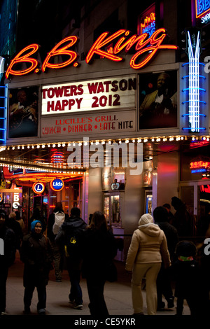 A general view of B.B. King Blues Club & Grill near Times Square, New York City. - Stock Photo