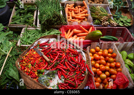 Vegetables at Ubud Markets, Bali Indonesia - Stock Photo