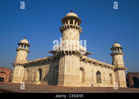 Itmad Ud Daulah or Itimad ud Dula tomb ; Agra ; Uttar Pradesh ; India - Stock Photo