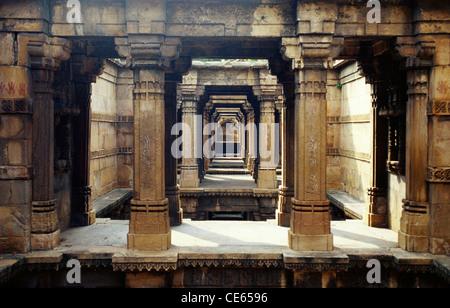 Dada Harir Ni Vav Step well 1499 ; Ahmedabad ; Gujarat ; India - Stock Photo