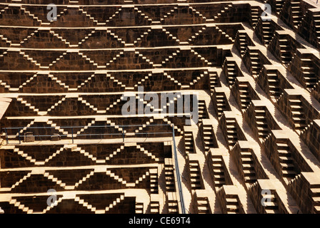 Chand Baori stepwell Dausa ; Rajasthan ; India - Stock Photo