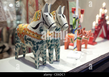 Dalecarlian horses - Stock Photo