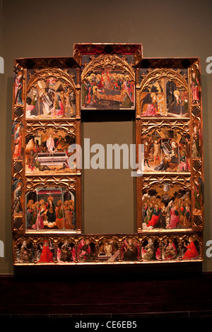 Museo Bellas Artes, Museum of Fine Arts, Bilbao, Spain, altarpiece of the Seven Joys of the Virgin Mary - Stock Photo