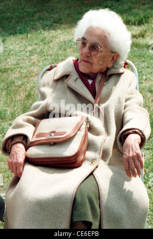 Portrait of Lotte Ulbricht of the wife of the Chairman of the Council of state the GDR Ulbricht on a PDS event 1994 - Stock Photo