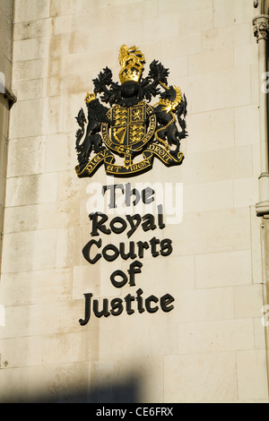 The Royal Court courts of Justice justise London. UK. - Stock Photo