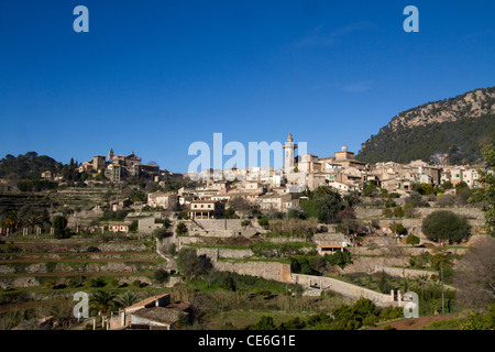 Valldemossa Mallorca Small village dorf of  Majorca Tramuntana Spain - Stock Photo
