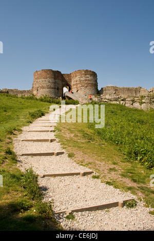 The path leading up to Beeston Castle, Beeston Cheshire England UK. - Stock Photo