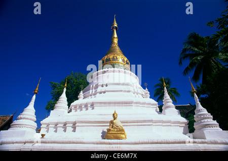 Thailand,Chiang Mai,Wat Bupparam - Stock Photo