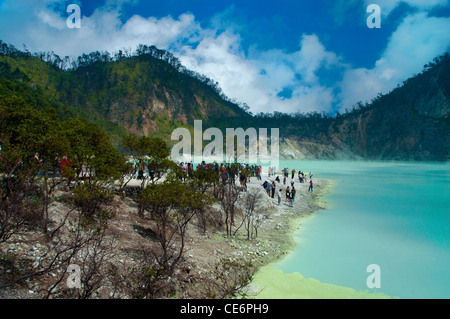 Beautiful Scene of Sulfur Lake - Stock Photo