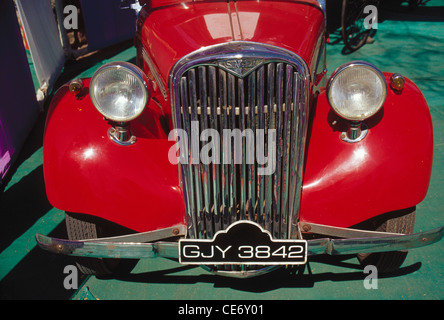 old antique red vintage car 1949 - Stock Photo