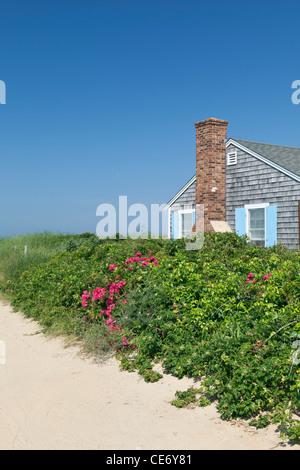 Beach House Wellfleet Cape Cod Massachusetts USA - Stock Photo