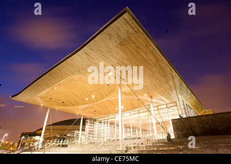 National Assembly for Wales, Cardiff Bay. - Stock Photo
