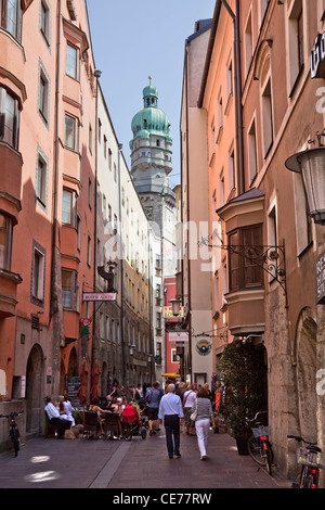 Street view in Innsbruck, Austria. - Stock Photo