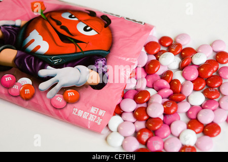 Valentine\'s Day M&M chocolate candy Stock Photo, Royalty Free ...
