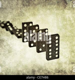 domino line - Stock Photo
