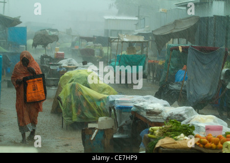 Rain and flood in Darfur Sudan - Stock Photo
