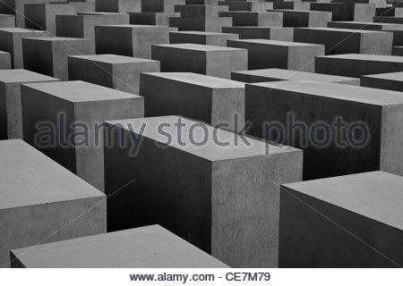 holocaust memorial in Berlin - Stock Photo