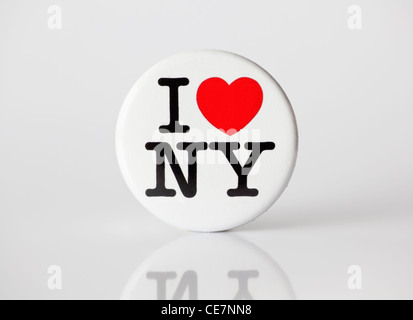 Muenster, Germany - January 28, 2012: Picture shows the famous 'i love ny' logo from the city of new york, printed - Stock Photo