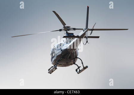 Backside of isolated helicopter - Stock Photo