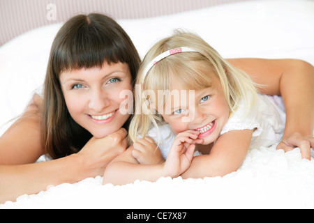Happy mother and daughter. - Stock Photo