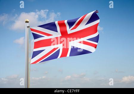 Union Jack Flag - The national flag of the United Kingdom - Stock Photo