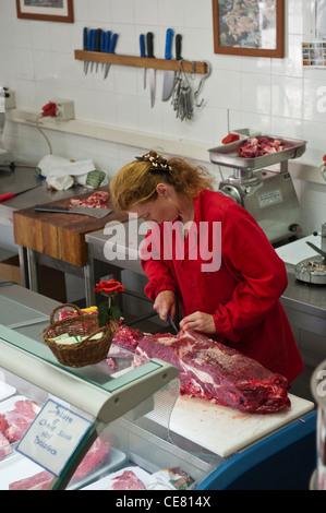 Coop San Pietro Vara. Organic butchers. Varese Ligure. Vara Valley. Province of La Spezia. Liguria. Italy. - Stock Photo